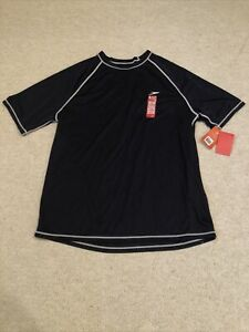Speedo Men's UPF 50+ Easy Short Sleeve Swim Shirt Top Navy Blue Size 3X