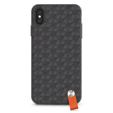 """Moshi Altra Slim Hardshell Case With Strap for iPhone XS Max 6.5"""" Shadow Black"""