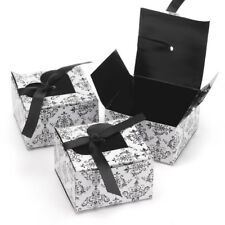 NEW HBH Black and White Heart Favor Boxes 25 pc.