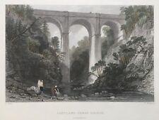 1835 Antiguo impresión; Cartland Puente, cerca de Larnak, Lanarkshire después de Thomas Allom