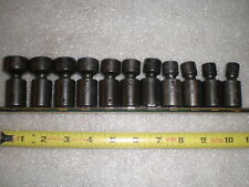 "MAC Tools 11PC 3/8"" DR Metric Impact Universal Socket Set USA SXUPM106TR 10-19mm"
