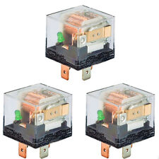 HS 3PCS Universal Auto 12V 80A 80 AMP SPST Relay 4Pin 4P Fit For Car Motor Truck