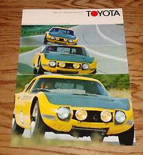 Original 1968 Toyota 2000 GT Foldout Sales Brochure 68