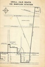 1971 BABYLON TRANSIT Bus Schedule Route Map Udall Road Abraham & Strauss Montauk