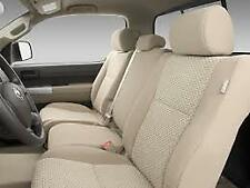 2007 to 2013 Toyota Tundra Crew Max 2 Row 6 Seater Exact Fit Seat Covers  Tan
