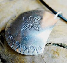Silber Anhänger 3,5 x 3 cm Amulett Lilie Ritter Schild Mittelalter Muster Royal