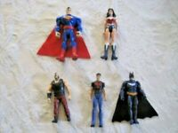 "DC Figure Lot (B) ~ 4""-5"" Action Figure Superman Batman Wonder Women & More"