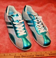 Gotta Flurt Akita Sparkle Metal Aqua Tennis Shoes Women's size 8.5