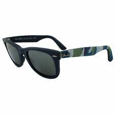 Ray-Ban Sunglasses Wayfarer 2140 606140 Urban Camo Matt Blue Silver Mirror M