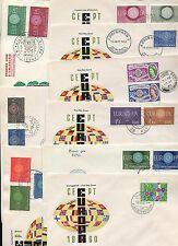 CEPT Jahrgang 1960 komplett auf FDC   20 Belege   (DK1)