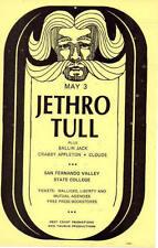 JETHRO TULL Los Angeles 1969 Concert Flyer ORG
