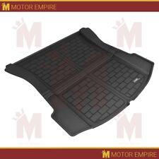 For 17-19 Tesla Model 3 Black Carbon Fiber Pattern Rear Cargo Trunk Liner Mat