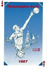 1987 Philadelphia Aces Minor League Basketball Pocket Schedule - USBL #FWIL