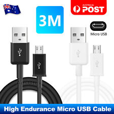 2x 3M Micro USB Data Charger Cable For Samsung Galaxy S6 S7 EDGE S5 S4 HUAWEI