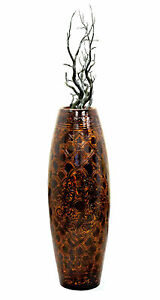 New Uniquewise Antique Style Brown Floor Vase, 36 Tall, QI003301L