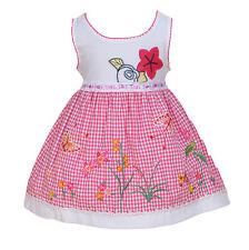 NEUF bébé filles blanc et Rose Floral robe de fête 18-24 mois