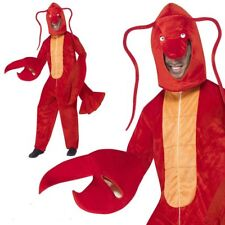 Adult Red Lobster Crab Mens Ladies Fancy Dress Costume One Size Animal