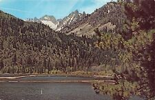 BRIDGEPORT CALIFORNIA~THE CRAGS~TWIN LAKES~SAWTOOTH RANGE POSTCARD 1960s