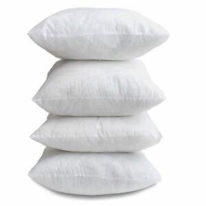 """17"""" x 17"""" Inch Cushion Scatter Inner Pads OVER FILLED Pack Of 4 Non Allergenic"""