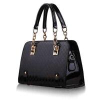 Schwarz Tasche Damentasche Handtasche Schultertasche Kunst Messenger Bags Neu