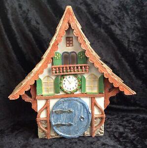 CUCKOO CLOCK FAIRY HOUSE - FAIRY GARDEN - VIVID - OFFERS