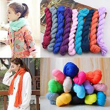 50x180cm Women Kids Cotton Linen Wrinkle Voile Boho Candy Color Shawl Wrap Scarf