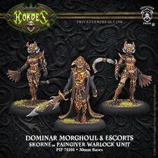 Skorne Dominar Morghoul und Escorts Paingiver Warlock Unit Privateer Press Horde