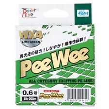 PE Braided fishing line YGK PeeWee WX4 LimeGreen 167yds-150m NEW!!!, Japan