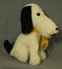 vintage old Peanuts Snoopy dog  toy stuffed animal sitting  1950s 1960s 13""