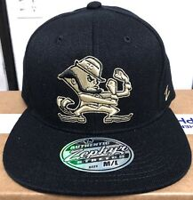 981c9e6cc2a New Notre Dame Fighting Irish Zephyr Blackout Baseball Stretch Fit Hat Cap  M L