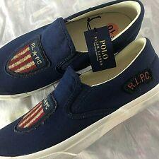 Polo Ralph Lauren Thompson USA Flag Shield Men's Size 10 R.L.P.C. Shoes NEW