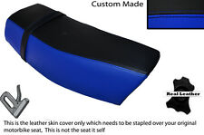 BLACK & ROYAL BLUE CUSTOM FITS SUZUKI DR 400 S 80-82 DUAL LEATHER SEAT COVER