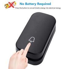 Self Powered Waterproof Wireless DoorBell Door Bell Night Light No Battery EU
