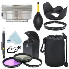 Sony E PZ 16-50mm f/3.5-5.6 OSS Lentes Plata + Kit de Filtro + Kit de Accesorios
