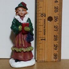 Miniature Woman People Caroler Christmas Train Diorama Figure Mini Steampunk