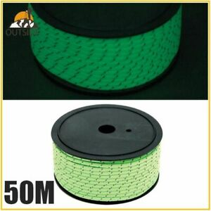 Reflective Camping Tent Rope Heavy Duty With Container Cord Paracord 50m 5MM