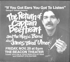 CAPTAIN BEEFHEART James Blood Ulmer Original Concert Handbill Flyer 1980 NYC