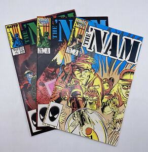 The 'Nam #2, #3, #5 1987 Marvel Comics Vietnam Lot of 3