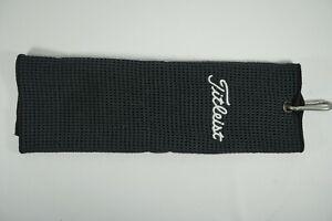 Titleist Trifold Golf Towel / Black / 38x12cm
