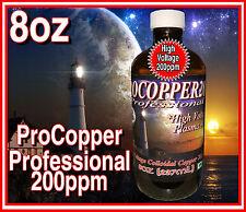 High Voltage Plasma Arc PROFESSIONAL Colloidal Pro Copper *8oz**237ml**200ppm