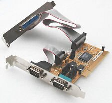 2x SERIEL RS-232 PARALLEL CONTROLLER PCI KARTE EXSYS EX-41150 PCI MULTI I/O CARD