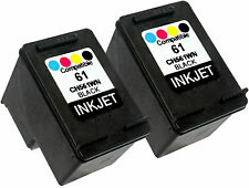 2PK Compatible With HP 61 CH561WN (New Gen) Deskjet 3050 3050a 3056a 1000 1051