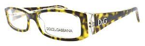 Dolce & Gabbana DD1179 556 Women's Eyeglasses Frames 49-16-130 Havana on Clear