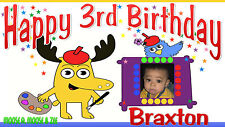 Moose A. Moose & Zee Nick Jr. Birthday Banner Personalized Custom Design In/Out