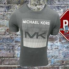 NWT MICHAEL KORS AUTHENTIC MEN'S GRAY CREW NECK SHORT SLEEVE T-SHIRT S M L XL