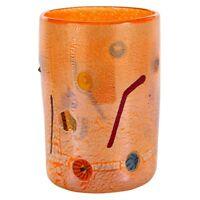 Vase Glas Murano Zylindrische Mit Millefiori Murano Silber Geschenkidee