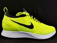 Nike Air Zoom Mariah Flyknit Racer Volt Black White Running Size Mens 11.5 New