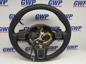 VOLKSWAGEN TOUAREG BLACK LEATHER STEERING WHEEL 7P 07/2011-2018