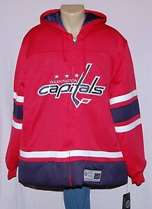 Washington Capitals Mens Jacket Full Zip Hoodie Puffer Jacket - NHL GIII Sports
