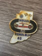 """VINTAGE LIONS CLUB PIN INDIANA 1983 HONOLULU INDY 500 1"""" PIN"""